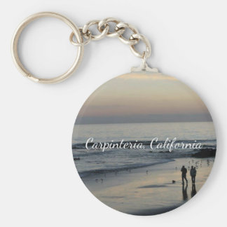 California Beach Scene Keychain