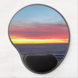 California Beach Sunset Gel Mouse Pad