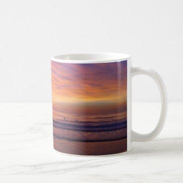 Coffee Themed California Beach Sunset Mug