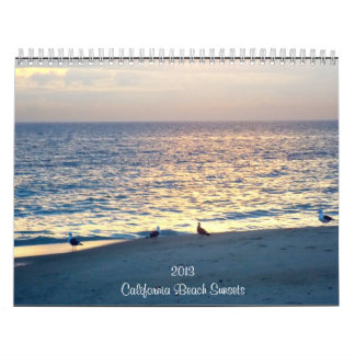 California Beach Sunsets 2013 Calendar