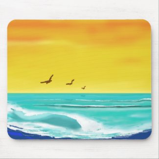 California Beach Surf Mousepad