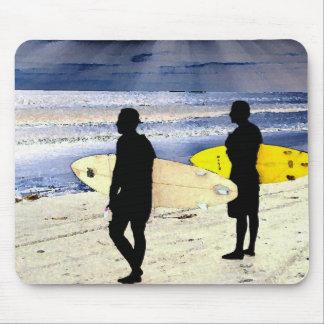 California Beach Surfer Surfing Ocean Waves Sea Mouse Pad