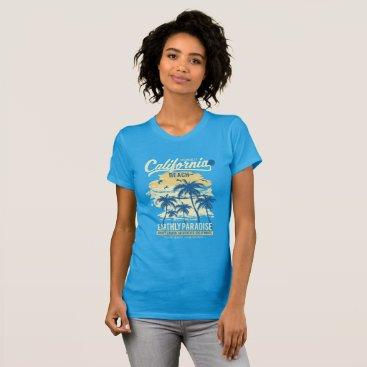 USA Themed CALIFORNIA BEACH T-Shirt