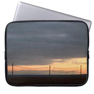 California Beach Volleyball Nets Sunset Sky Laptop Computer Sleeve
