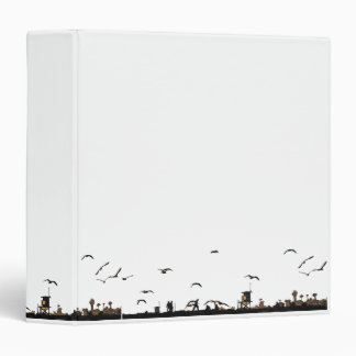 California Beach Walking Ocean Coast Seagull Birds 3 Ring Binder