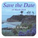 California Beach Wedding sticker
