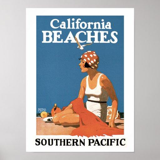 California Beaches Poster