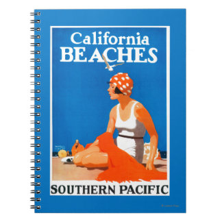 California Beaches Promotional Poster Spiral Note Book