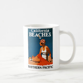 California Beaches - Southern Pacific Railroad Coffee Mug