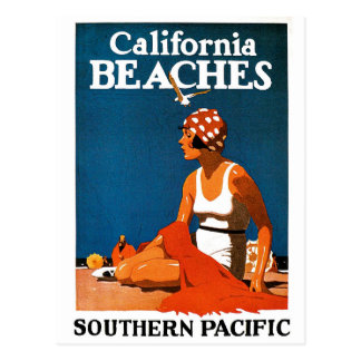 California Beaches - Southern Pacific Railroad Postcard
