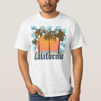 California Beaches Sunset T Shirt