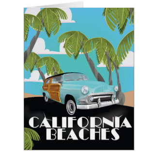 California Beaches Vacation print Card