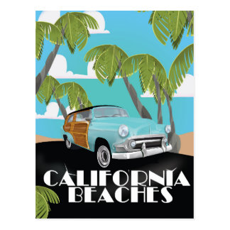 California Beaches Vacation print Postcard