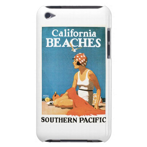 California Beaches Vintage Travel Poster iPod Case-Mate Cases