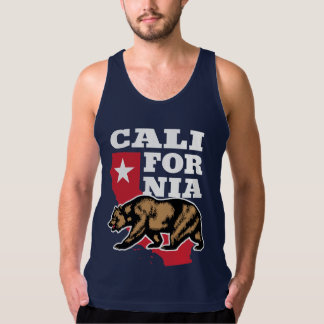 California Bear and Star American Apparel Fine Jersey Tank Top