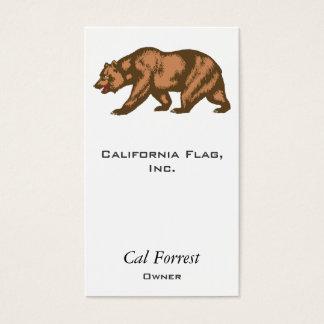 California Bear Business Card