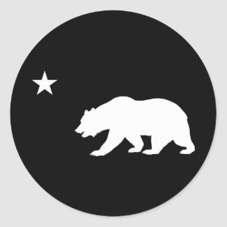 California Bear Classic Round Sticker