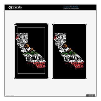 California Bear flag map USA painting Kindle Fire Decals