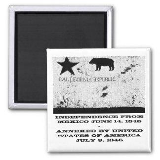 California Bear Flag Republic Fridge Magnet