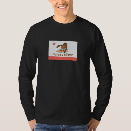 California Bear Goes Surfing T-Shirt
