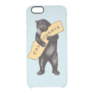 California Bear Hug Vintage Illustration Clear iPhone 6/6S Case