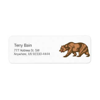 California Bear Label