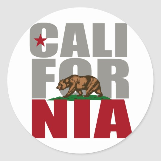 CALIFORNIA BEAR PRIDE - CLASSIC ROUND STICKER