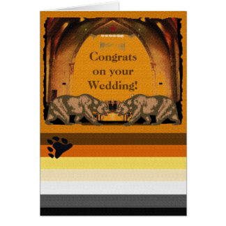 California Bear Pride Gay Newly Weds Card
