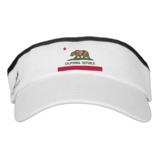 California bear state flag sun visor cap hat headsweats visor