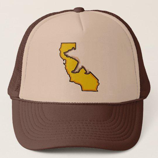 California bear state symbol brown hat