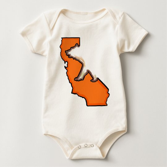 California bear state symbol orange baby outfit baby bodysuit