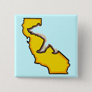 California bear state symbol souvenir button