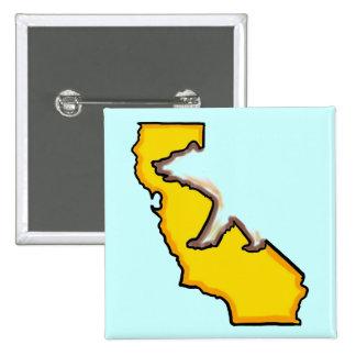 California bear state symbol souvenir button
