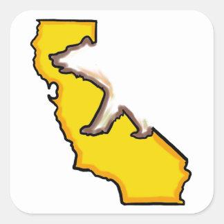 California bear state symbol white stickers