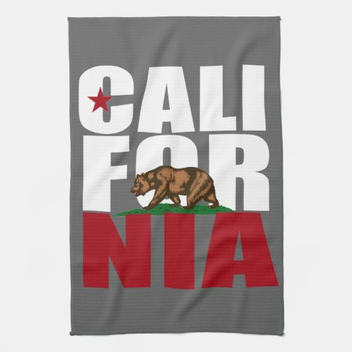 CALIFORNIA BEAR WHITE -.png Towel
