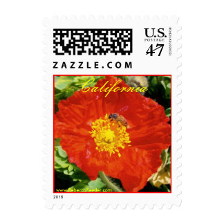 California - Bee Happy Too Postage Stamp