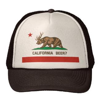 California Beer Bear Deer State Flag Hat