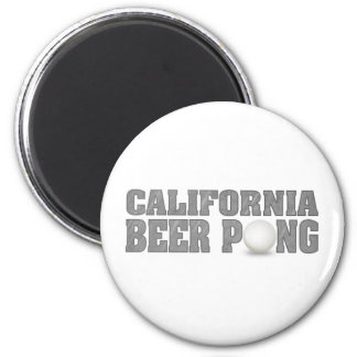 California Beer Pong 2 Inch Round Magnet