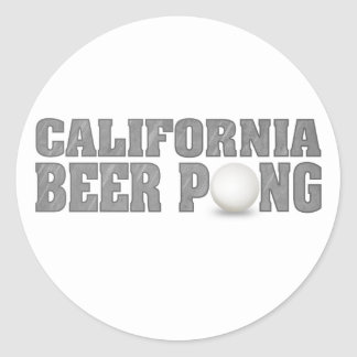 California Beer Pong Classic Round Sticker