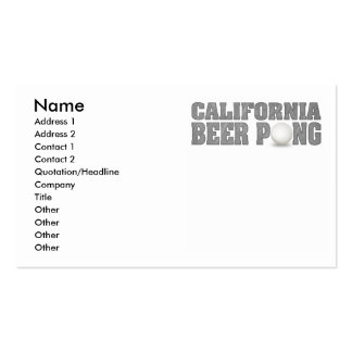 California Beer Pong King Double-Sided Standard Business Cards (Pack Of 100)