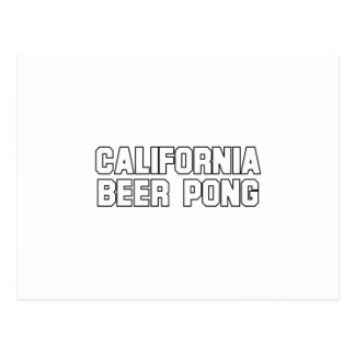 California Beer Pong Post Card