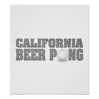 California Beer Pong Poster