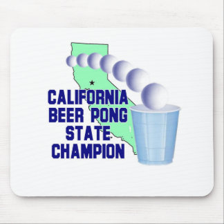 California Beer Pong State Champion Mouse Pad