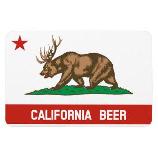 California Beer State Flag Bear Deer Flexi Magnet