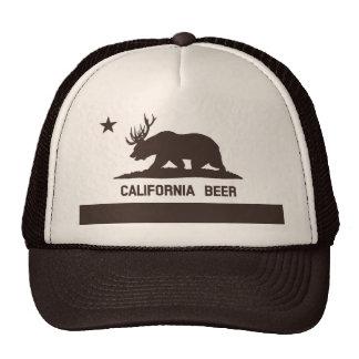 California Beer State Flag Trucker Hat brown tan