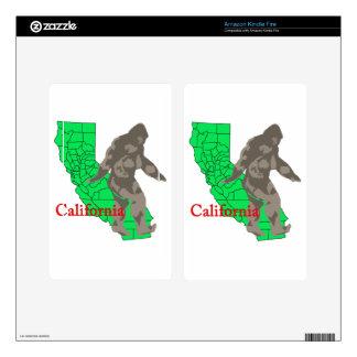 California bigfoot kindle fire skins