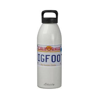 California Bigfoot License Plate Reusable Water Bottles