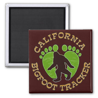 California Bigfoot Tracker 2 Inch Square Magnet
