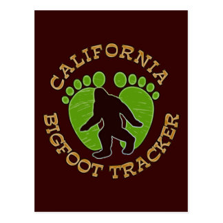 California Bigfoot Tracker Postcard