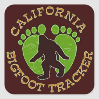 California Bigfoot Tracker Square Sticker